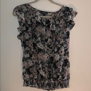 Express Floral Ruffle Blouse